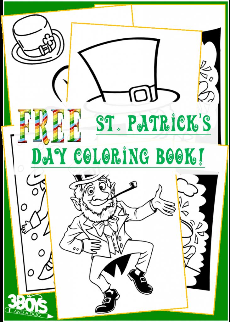 Free Saint Patrick\'s Day Coloring Book