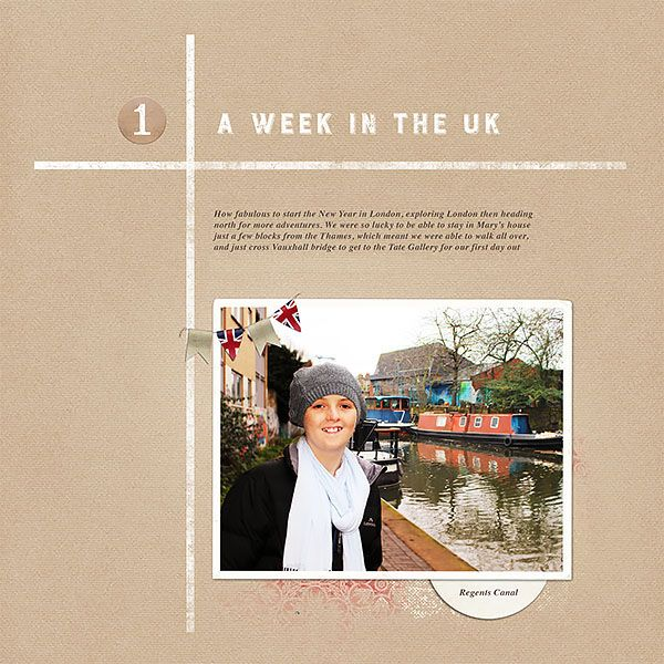 Week in review side one.  Created by Lynn Grieveson using Springboard Reviews no.01.  Available at The Lily Pad.