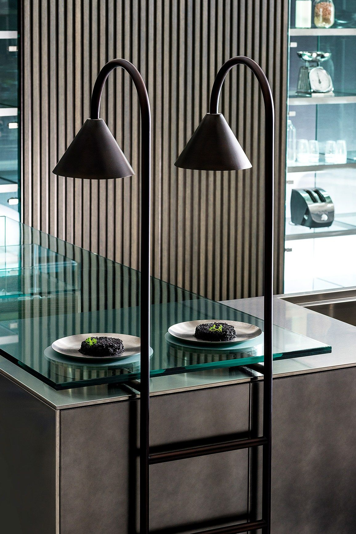 Futuristic cityscapes for kitchen by @tmitaliacucine