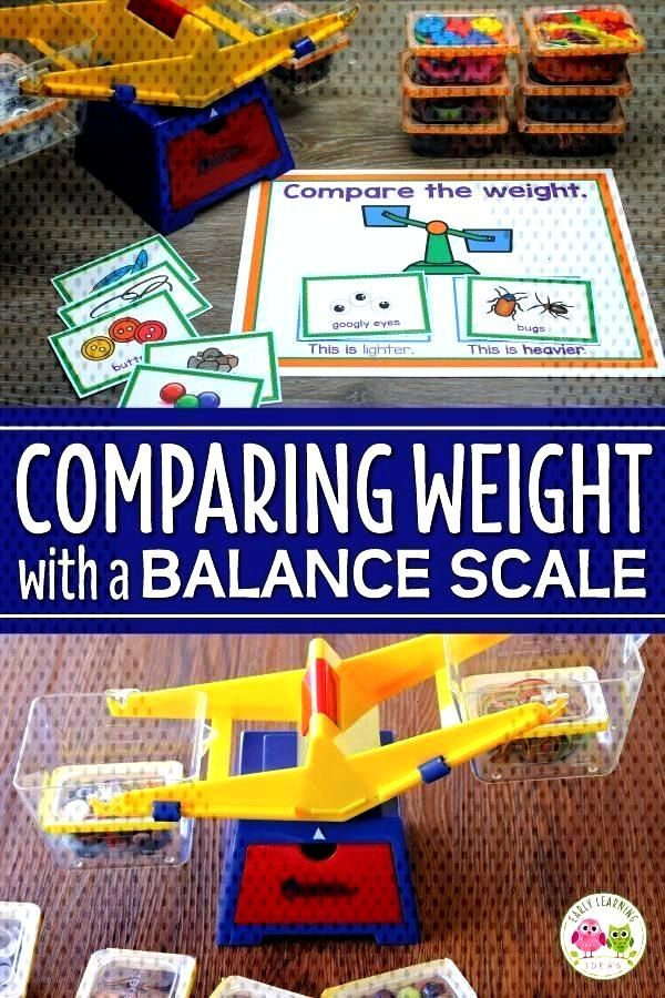 for Kids: How to Compare Weights with a Balance Scale Use this fun measurement activity for kids in