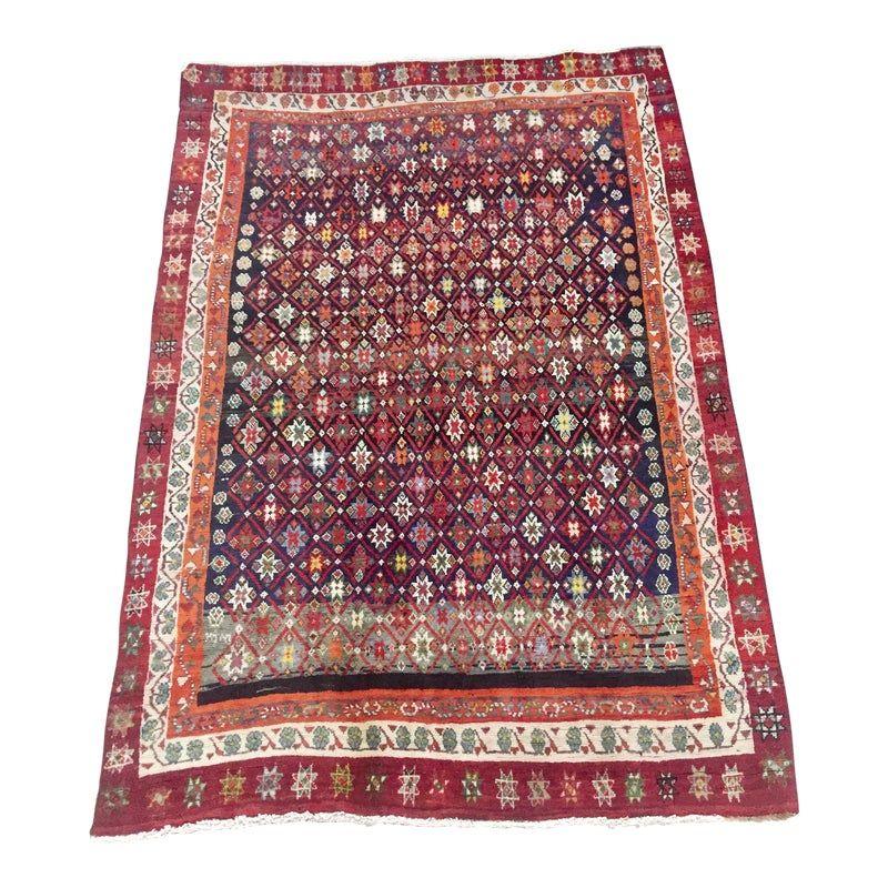 1980s Persian Gabbeh Tribal Rug 5 2 7 3 Rugs Gabbeh Rug Traditional Handmade Rugs