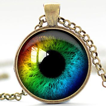 Rainbow eye necklace third eye jewelry evil eye charm eyeball rainbow eye necklace third eye jewelry evil eye charm eyeball pendant 952 aloadofball Choice Image