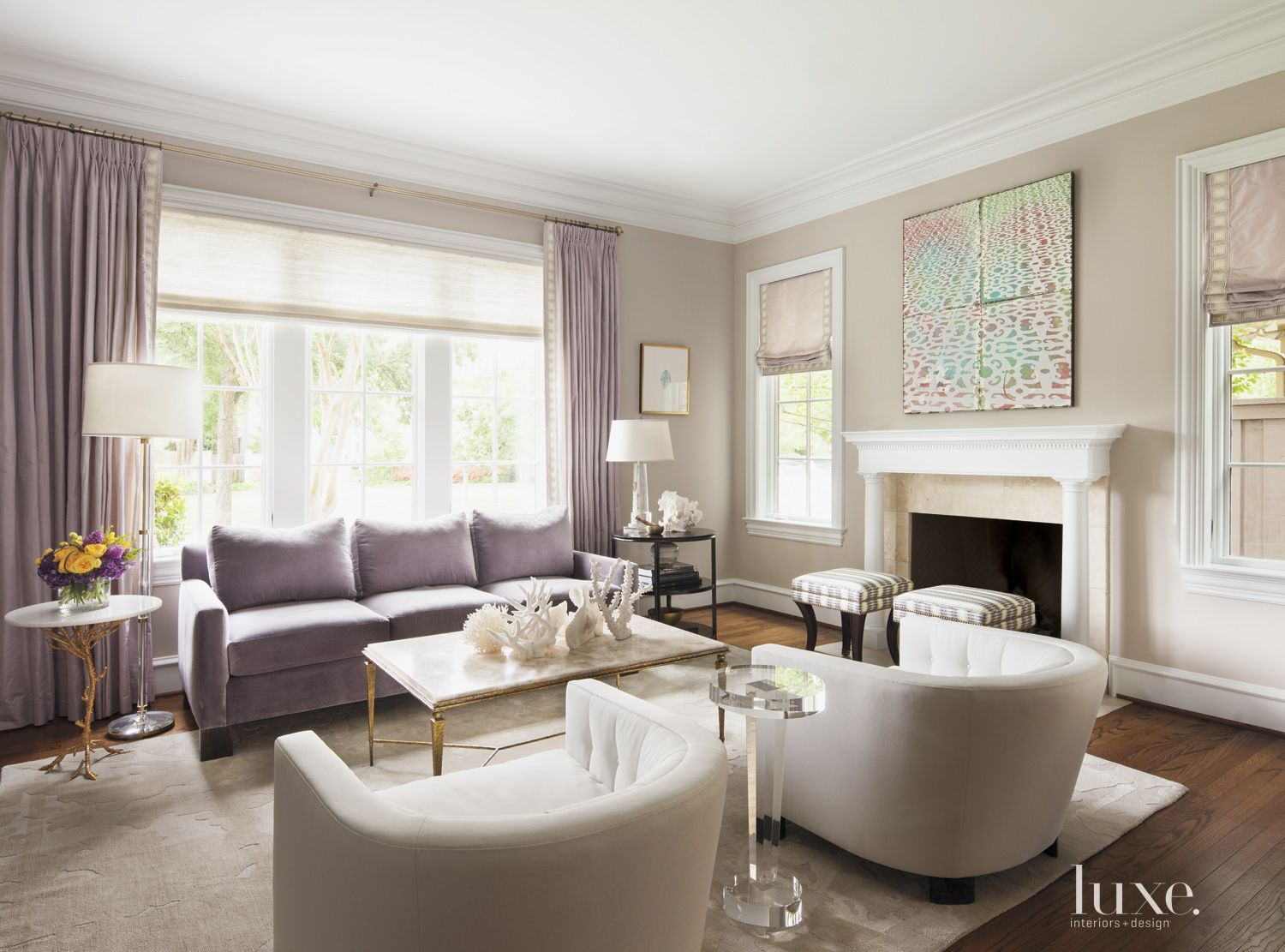 Transitional Taupe Sitting Area | LuxeSource | Luxe Magazine - The ...