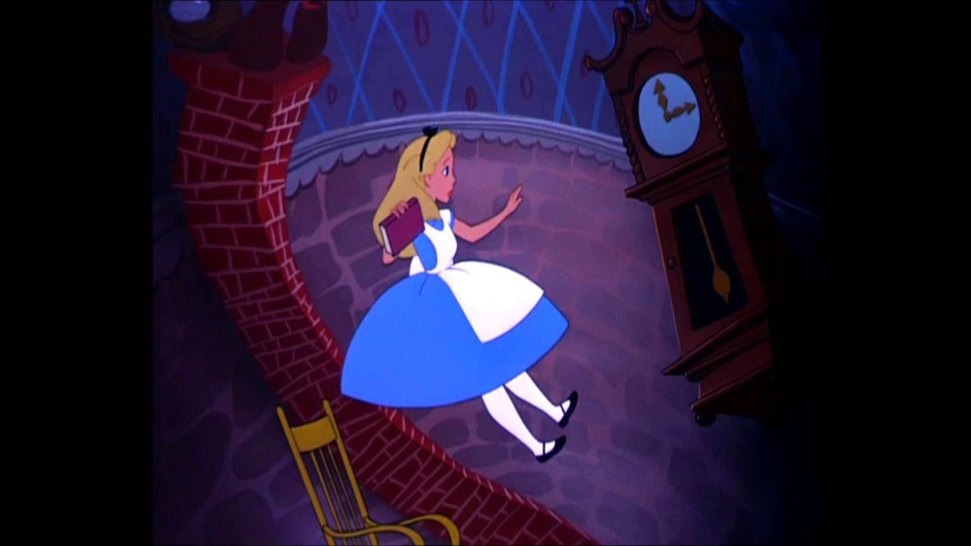 Alice Falling Down The Rabbit Hole Alice In Wonderland