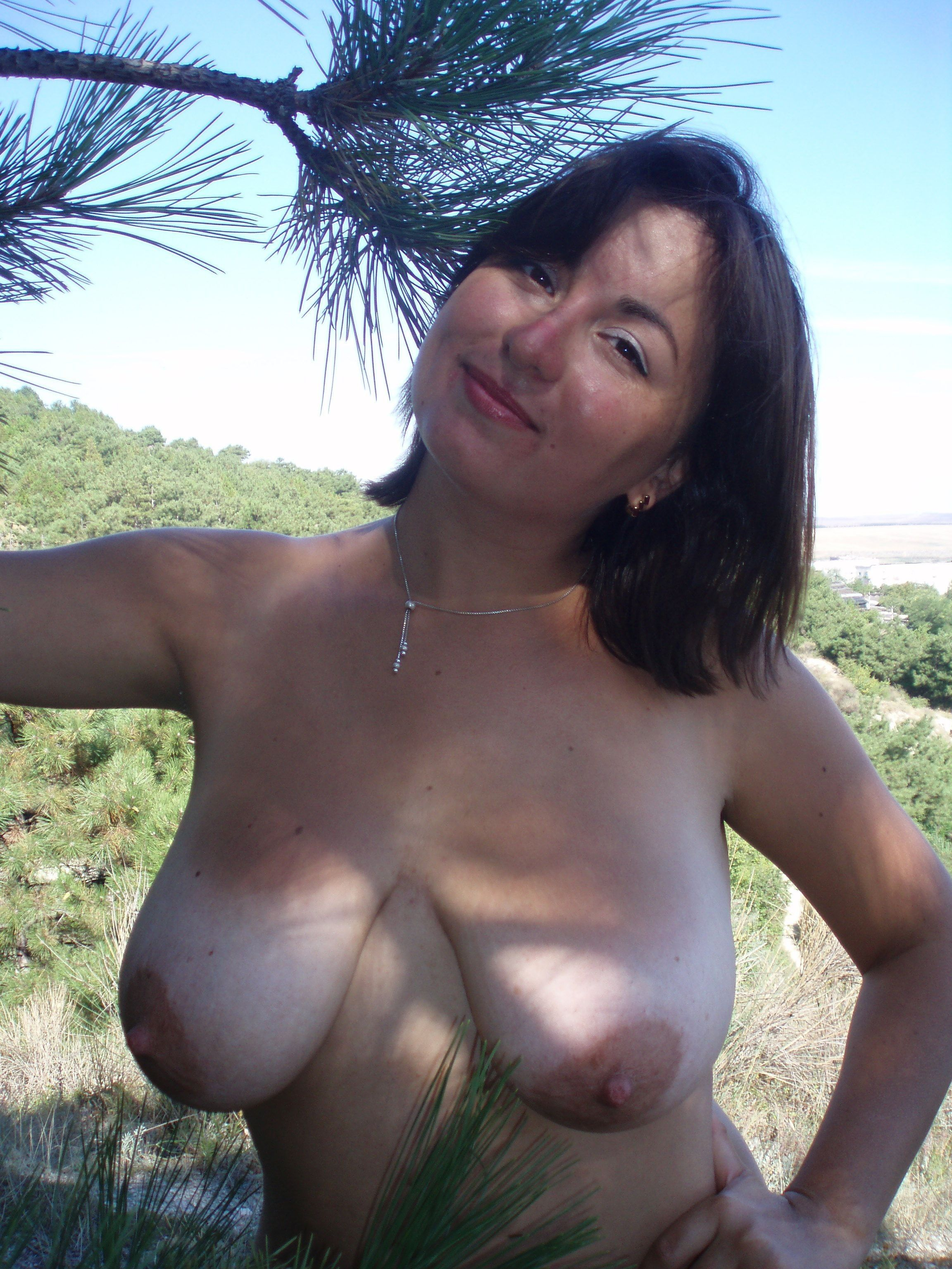 Nudist in nature photos