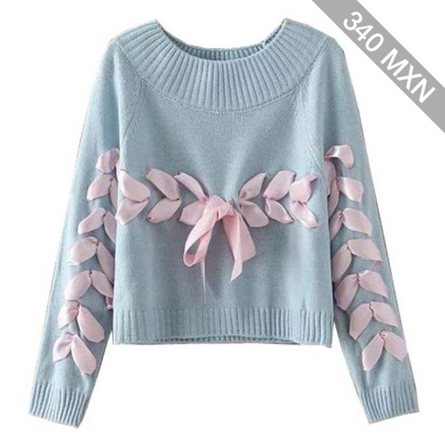 Chicnova Fashion Round Neckline Long Sleeves Sweater