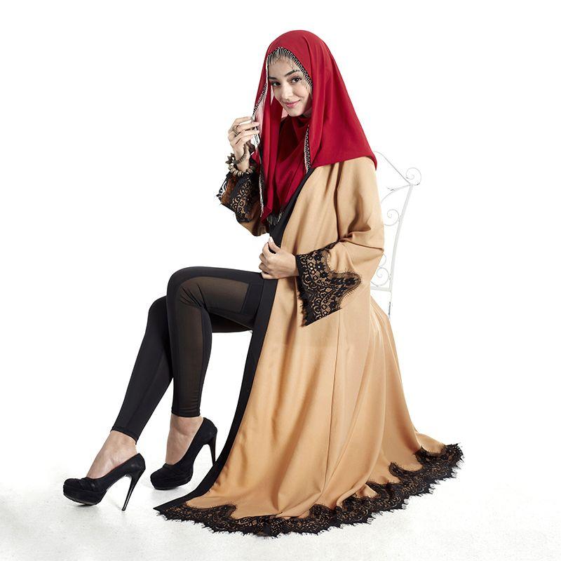 b63ebf89b elegante Encaje Ropa Garment Jilbab Turco Árabe Dubai Abaya Musulmán Largo Mujeres  Vestidos Maxi Vestido de Los Musulmanes ropa islámica E006 Notic  Este ...
