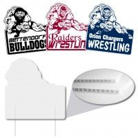 Intimidating Wrestler Shaped Sign Corrugated Plastic Signs Are The Solution To Your Inexpensive Sign Corrugated Plastic Signs Advertising Signs Realtor Signs