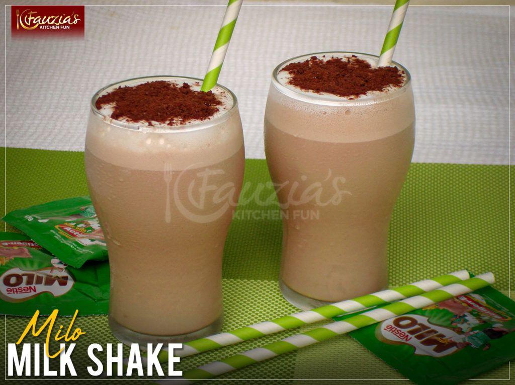 Milo Milkshake Fauzia S Kitchen Fun Milkshake Coffee Tasting Recipes
