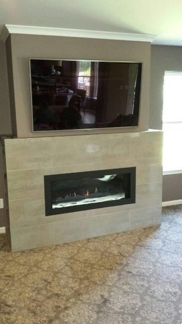 Napoleon Lhd45 Linear Fireplace With Crystaline Ember Bed This