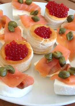 Canap s de salm n ahumado aperitivos entrantes - Aperitivos de salmon ahumado ...