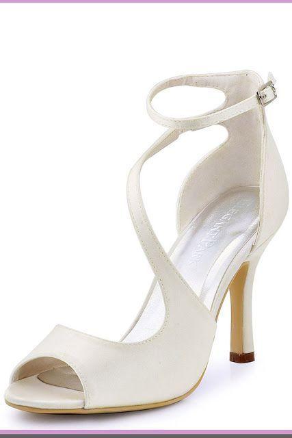 8c21b9de35e5 ElegantPark Women s Peep Toe High Heels Ankle Straps Buckles Satin Evening  Party Prom Sandals high heel