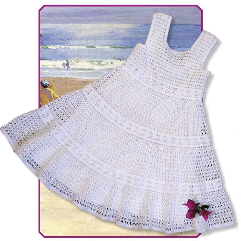 White lace toddler dress crochet flowers white lace and diagram crochet girls dt1010fo
