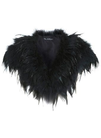 Black Feather Cape - View All  - Sale & Offers £35