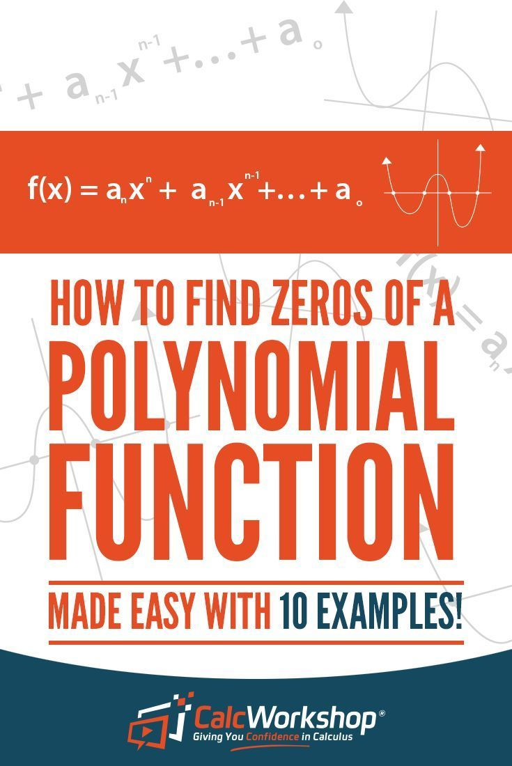 How to find zeros of a polynomial 10 awesome examples