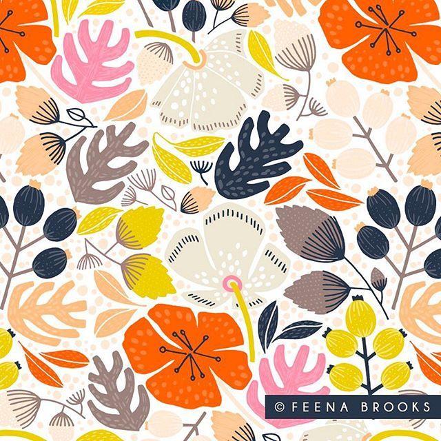 Surface Pattern Design By Feena Brooks Feenabrooks Com Print