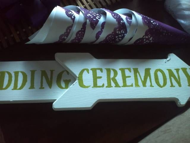 Wedding & Ceremony sign with petal holders