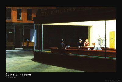 Framed Art Print Night Hawks by Edward Hopper Diner Scene