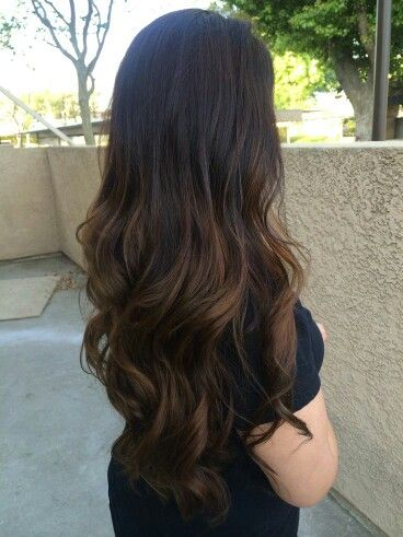 Dark brown balayage ombre :)