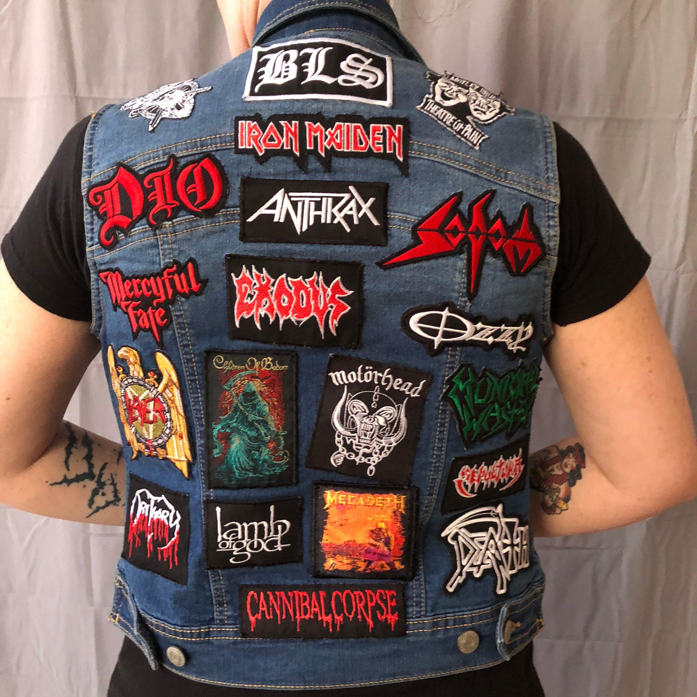 Iron maiden eddie embroidered patch heavy metal saxon motorhead judas priest