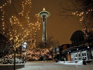 I don't know where this picture is from (or if it is manipulated) but it's gorgeous!!          Seattle Vacation Contest