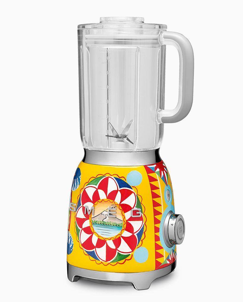 dolce & gabbana adorns smeg kitchen appliances with decorative ...
