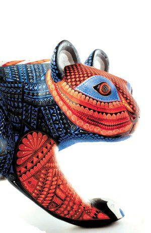 Alebrije - wooden carved art from Oaxaca Mexico