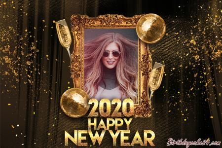 Happy New Year 2020 Cards With Name Edit | Happy new year ...