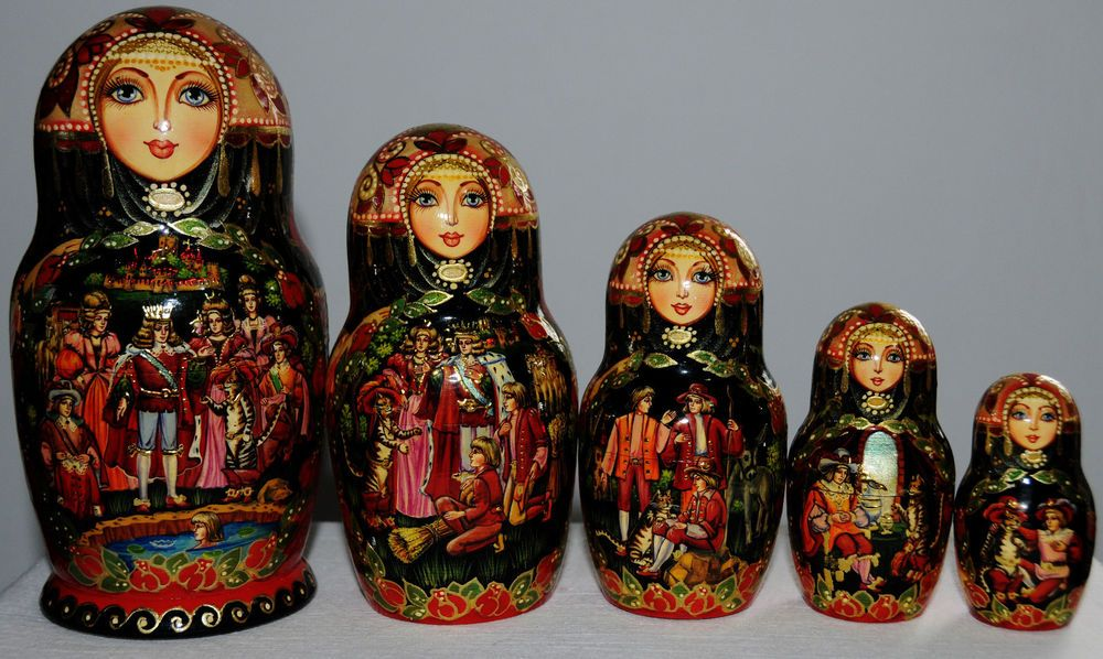 Nesting doll Cat with fairytale