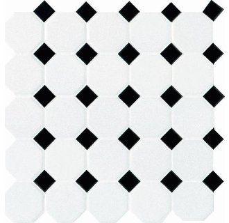 View The Daltile 6501 2oct21pms1p2 Octagon Dot White Black