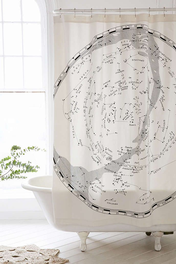 Magical Thinking Constellation Map Shower Curtain | Constellation ...