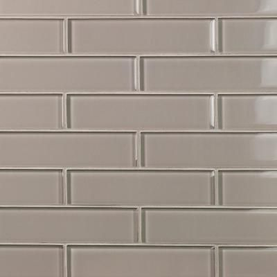 Ivy Hill Tile Contempo Taupe 2 In X 8 In X 8mm Polished Glass Floor And Wall Tile 1 Sq Ft Ext3rd100942 The Home Depot Glass Floor Glass Tile Backsplash Kitchen