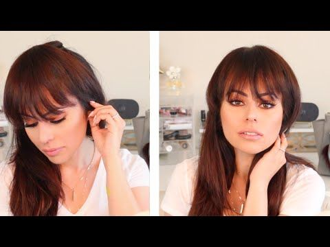 Fake Bangs Hairstyle Glamorous Youtube  Beauty  Pinterest  Fake Bangs Easy Hair And Bangs