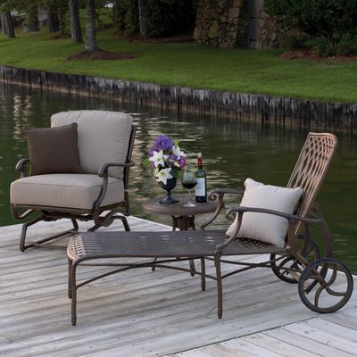 Cast Iron Patio Furniture On Venice Cast Aluminum Chaise Lounge By Summer  Classics Family Leisure Http