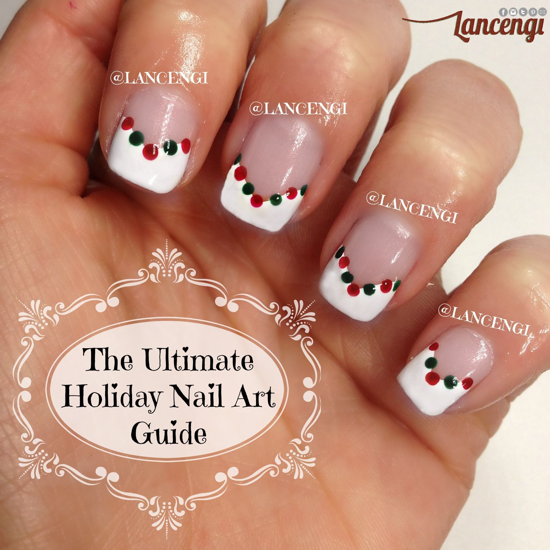 Best Christmas nail art for 2014 Classic Holiday Nail Art Design Red ...