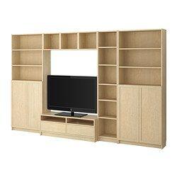 Benno Tv Meubel Ikea.Billy Benno Tv Storage Combination Birch Veneer Storage
