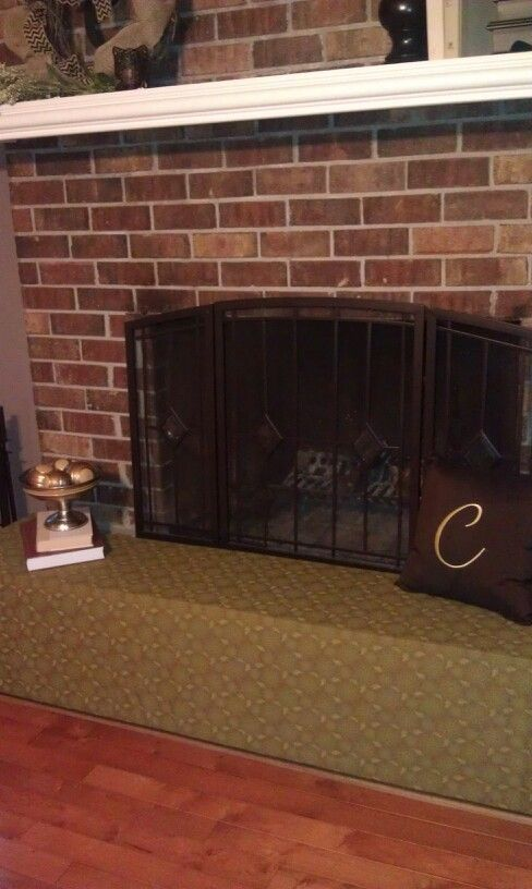 Baby Proof A Fire Place With Foam Board Hot Glue And
