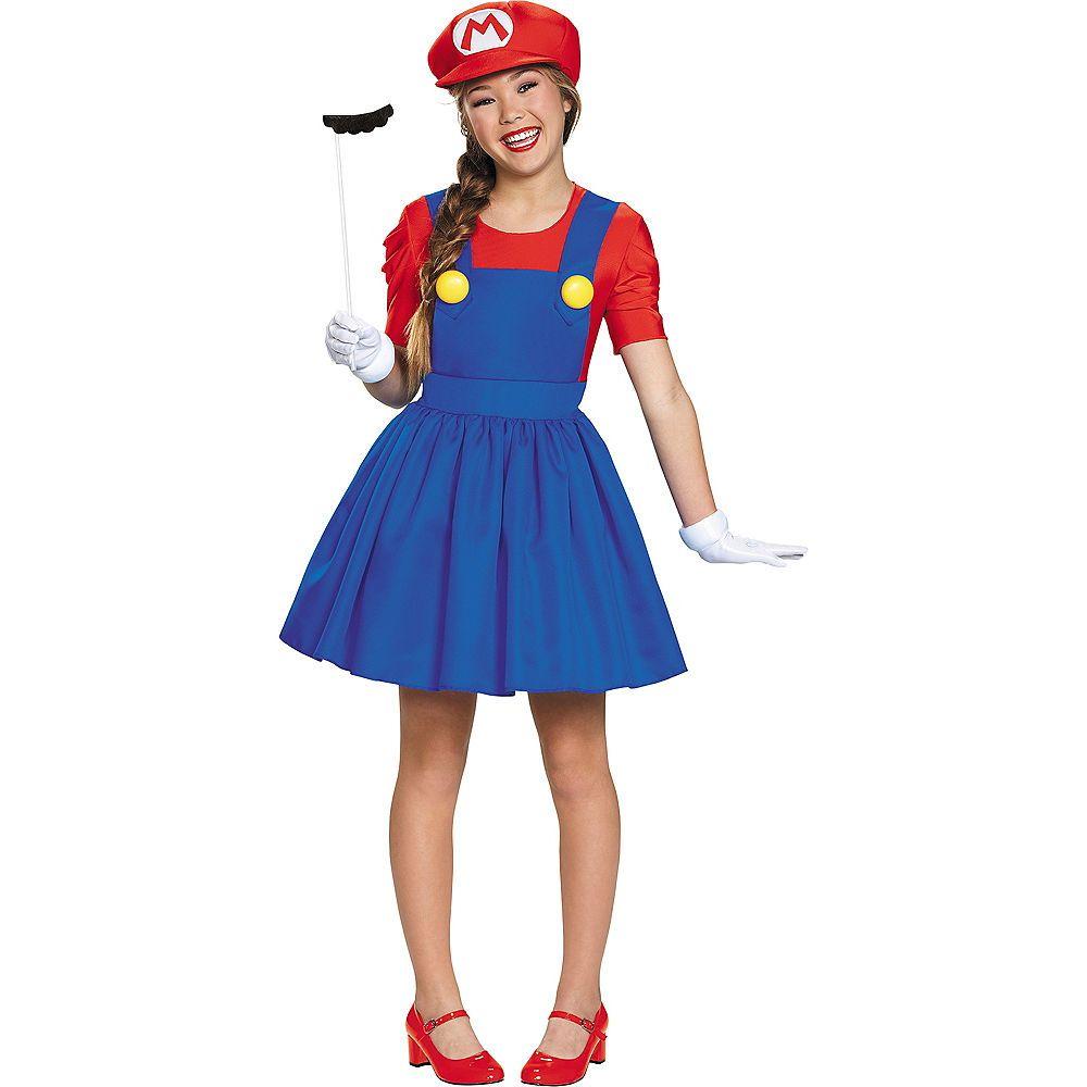 Tween Girls Miss Mario Costume Super Mario Brothers