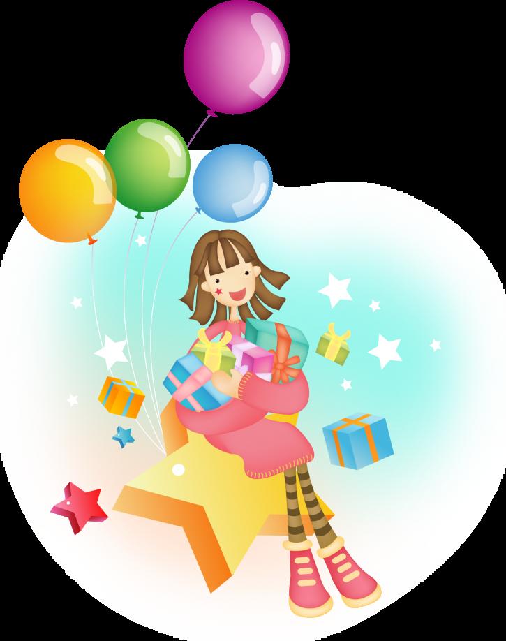 Картинка девочка с шариками нарисованная, открытки марта