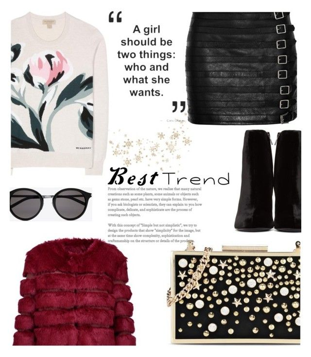 """""""Karl Lagerfeld Clutch"""" by avete ❤ liked on Polyvore featuring Karl Lagerfeld, Burberry, Gucci, Yves Saint Laurent, AINEA and Clutch"""