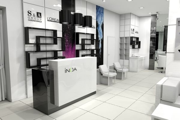 S group beauty salon interior design on Behance Interior Design