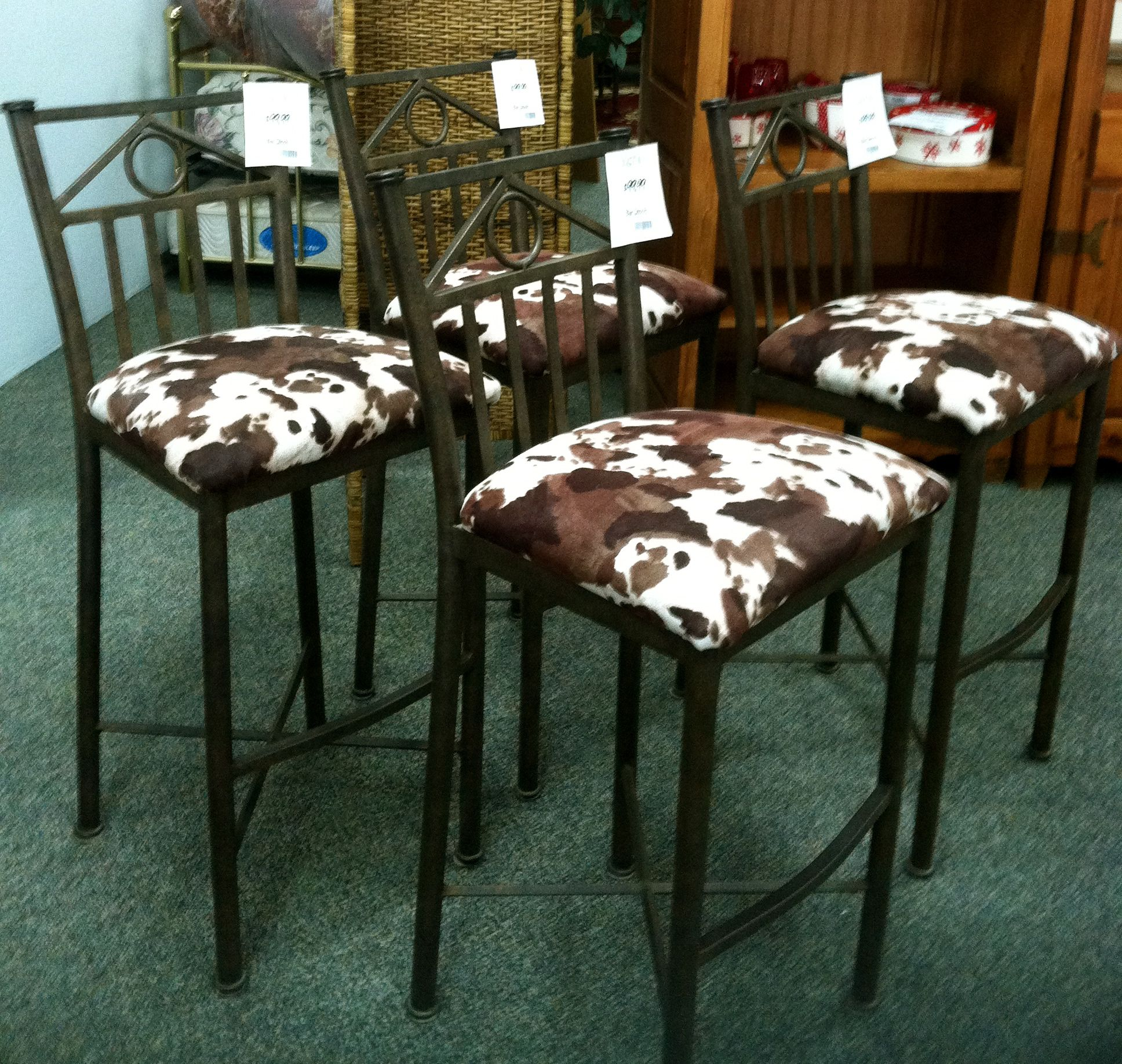 Cowhide Bar Stool We have 4 cowhide barstools at iConsign Stores Thomas Road OUR PRICE ONLY