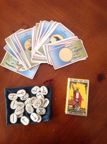 Set of rune stones and tarot cards (2 Decks)