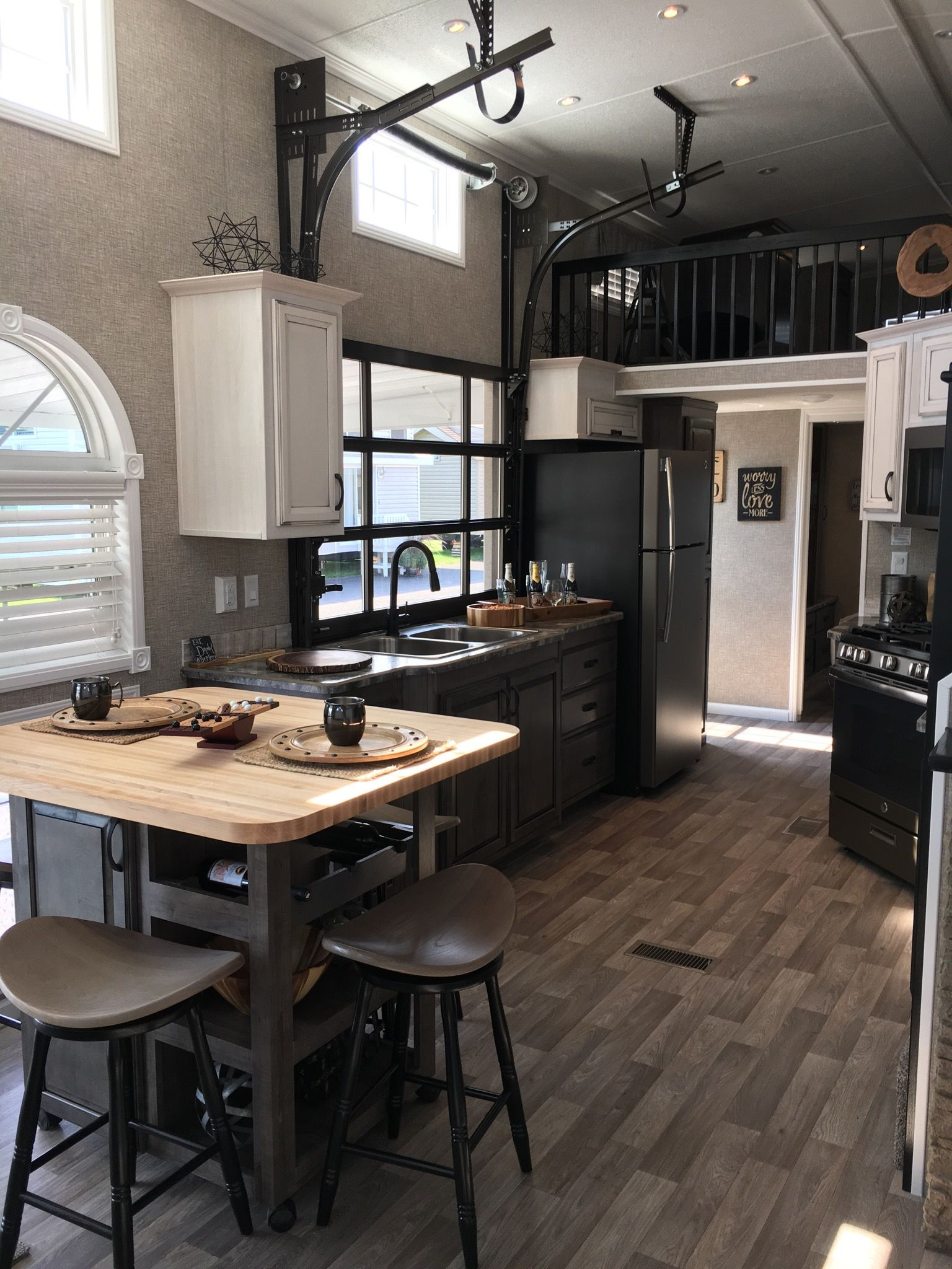 Model Homes Images Interior Kropf Island Park Model Tiny Homes Pinte