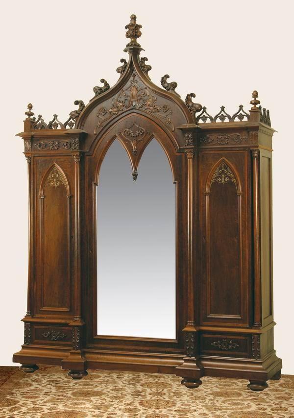 Gothic Revival Armoire Mobilier De France Interieur Gothique Mobilier De Salon