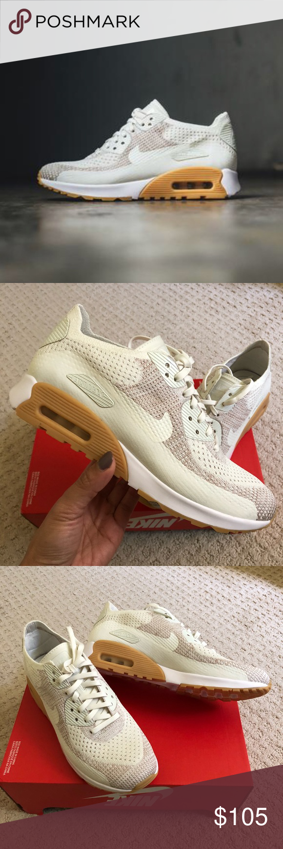 best cheap 6e74b 9eafb 🎆New🎆 NIKE Air Max 90 Ultra 2.0 Flyknit ~ 10 brand new no lid size 10 sail  white sand gum yellow comes from smoke free home 100% authentic J180000054  Nike ...