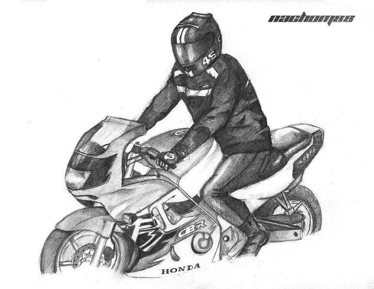 Dibujo De Motos A Lapiz Imagui Motos Dibujos Dibujos Dibujos