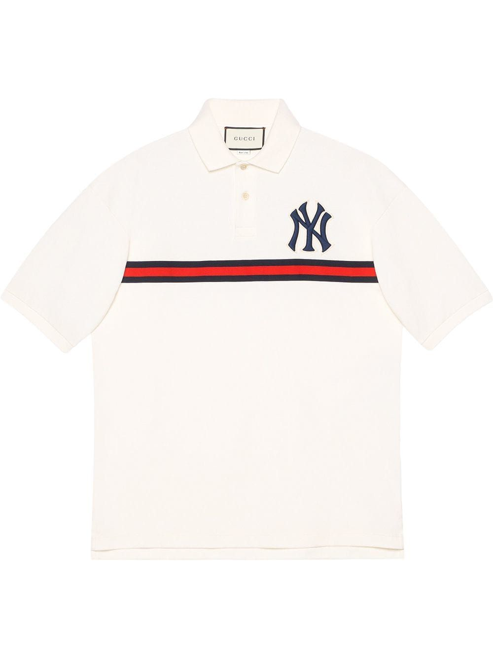 d35ea222b GUCCI GUCCI MEN S POLO WITH NY YANKEES™ PATCH - WHITE.  gucci  cloth ...
