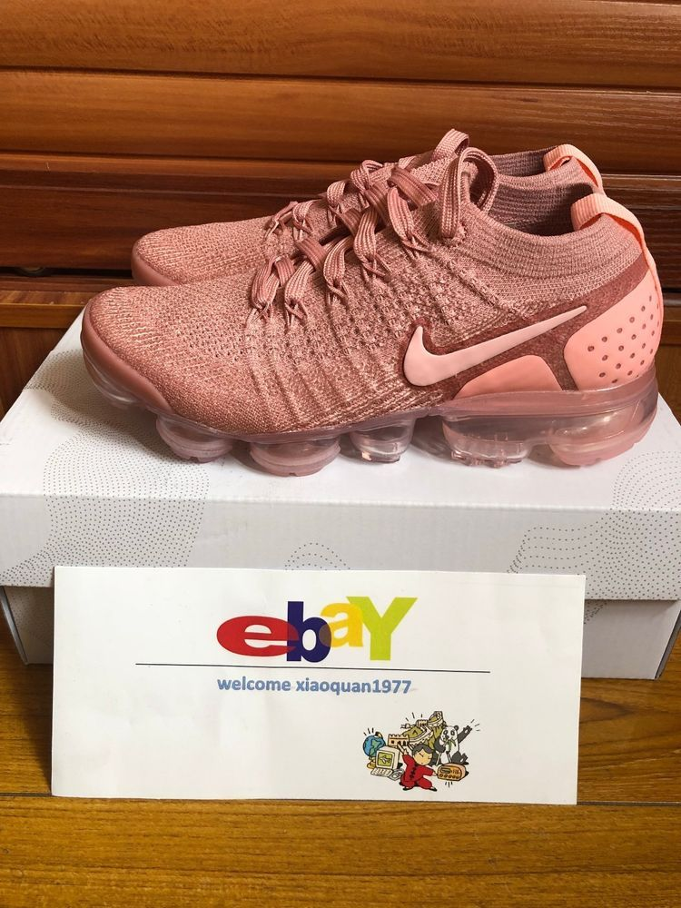 95561e962b524 Nike Air VaporMax Flyknit 2 Rust Pink Running Shoe 942843-600 US5.5-US8   Nike  RunningShoes