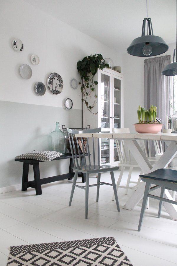 Die tellerwand foto britta bloggt esszimmer diningroom · deko esszimmerwandfarben40 jahre alteinrichtungbeliebt wochebrettchenlebensstilraumgestaltung
